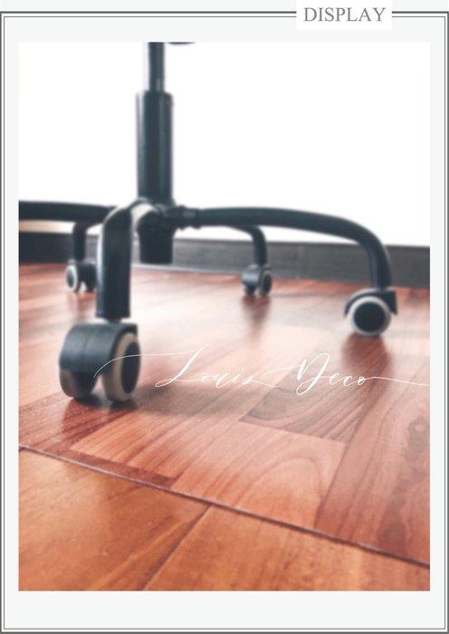 *Louis_Deco 地板保護墊.電腦椅轉椅保護墊.磁磚保護墊.木紋塑膠地墊.保護木地板.耐用耐磨.100x100公分