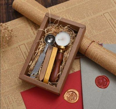 wuli西子的店--復古祝福語火漆印章套裝 婚禮商務請柬高檔封蠟 學生用diy禮品盒