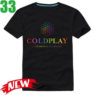 Coldplay【酷玩樂團】【A Head Full Of Dreams】短袖搖滾T恤(共6種顏色)新款上市!【賣場五】