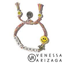 Venessa Arizaga DONT WORRY BEE HAPPY 笑臉彩色手鍊