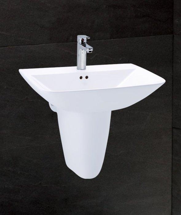 《101衛浴精品》凱撒 CAESAR 奈米抗污 半瓷腳 短腳柱 面盆 LS2365S【免運費 可貨到付款】