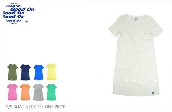 WaShiDa 女裝 Good On 日本品牌 自然 色落 長板 短袖 T恤 ONE PIECE 洋裝