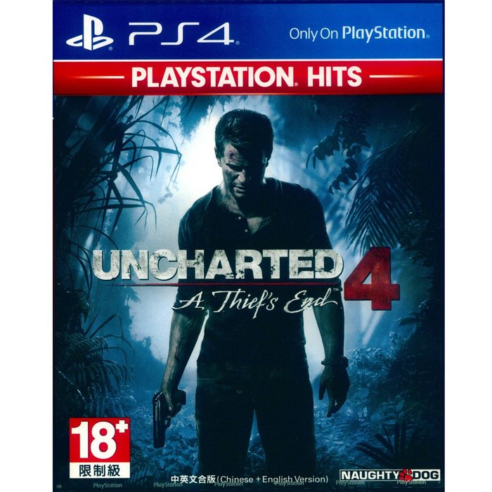 (現貨全新) PS4 秘境探險 4:盜賊末路 中英文亞版 Uncharted 4: A Thief s End