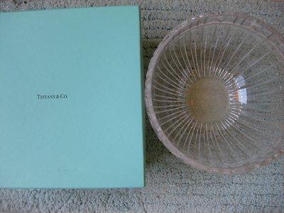 Tiffany&Co 蒂芬妮 沙拉水晶玻璃碗 結婚禮物 新居新房禮 含盒子 (直徑18cm  深15cm)