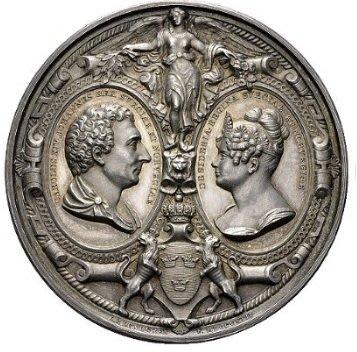 1842 Sweden Oscar I 1844-1859 To the Royal Family BERNADOTTE