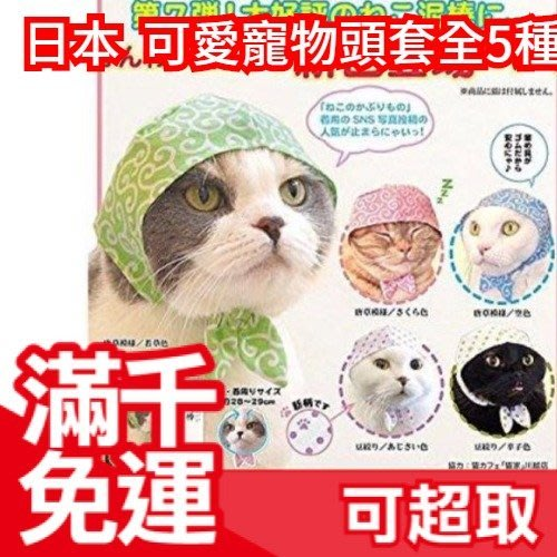 【頭巾貓咪】日本 可愛寵物頭套 整套5種 扭蛋轉蛋 喵星人毛小孩狗犬兔 娃娃造型裝飾帽 療癒交換禮物 ❤JP Plus+