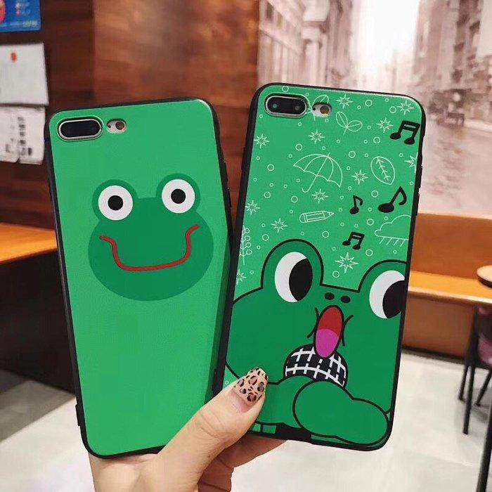 千夢貨鋪-同款可愛青蛙7/8plus音符青蛙蘋果6p手機軟殼情侶xsmax