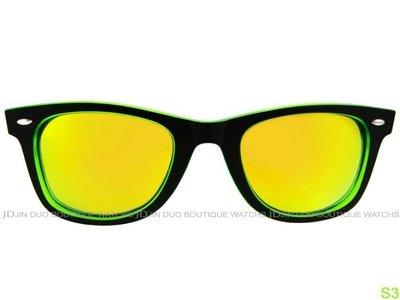 金鐸精品~S3 S33 SOMEWEAR Jelly Bean 黑綠膠框偏光黃鏡面中性款 太陽眼鏡 全新品