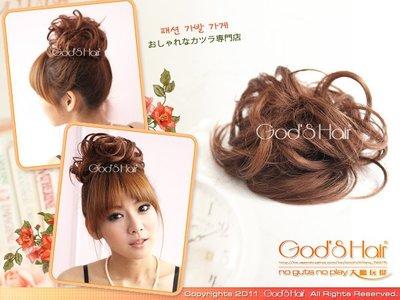 *GODSHAIR*QQ丸子包包頭的髮束【Q089】捲髮QQ包包頭髮包 臉書妹妹熱愛