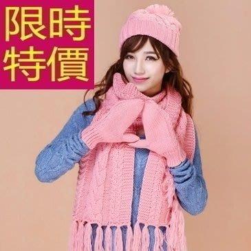 三件套組含羊毛帽+圍巾+手套-魅力氣質溫暖正韓配件組合9色63n31[獨家進口][巴黎精品]
