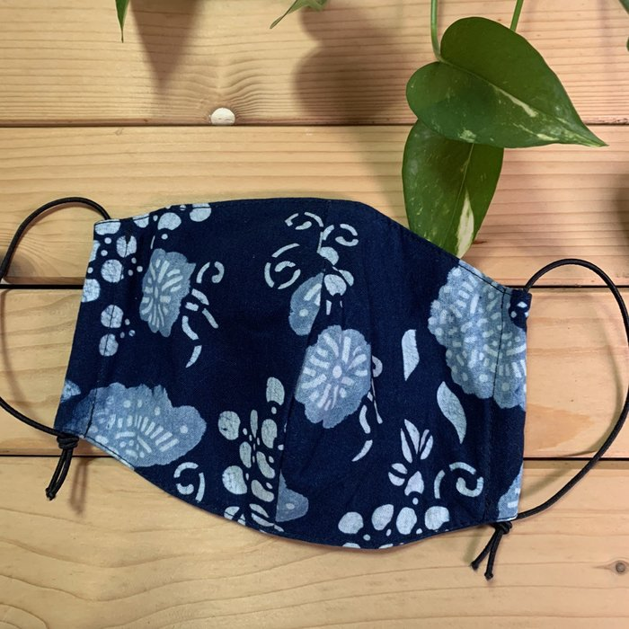 !中國藍Anewei藍染口罩.口罩套-F-立體剪裁型服貼透氣花色不指定-萊爾富運費半價