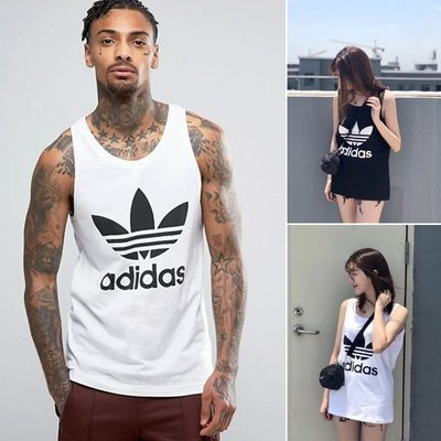 本週特價 adidas Originals vest 三葉草 愛迪達 無袖 背心 黑 白 LOGO DV1508