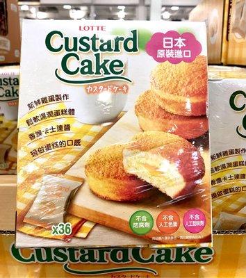 Costco好市多 LOTTE 樂天 卡士達派 27.5g x36個  custard cake 蛋黃派