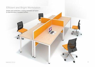 【OA批發工廠】IMMENSE 系統工作站 辦公屏風工作站 開放式辦公桌 SOHO族辦公桌 簡約現代設計