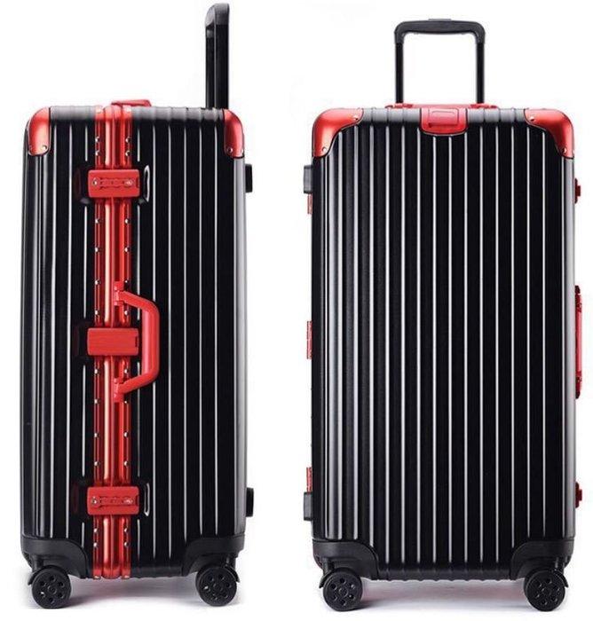 26吋運動版行李箱 大容量 鋁框 拉桿箱 萬向輪 磨砂面加厚旅行箱 (不送小贈品, 價格直接優惠)