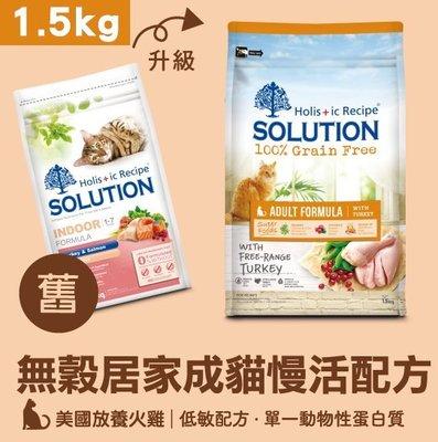 *COCO*耐吉斯超級無穀-居家成貓慢活配方1.5kg(美國放養火雞肉)室內貓低敏飼料/低運動量成貓/單一蛋白
