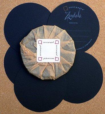 禪繞畫 官方黑色圓磚(單張)