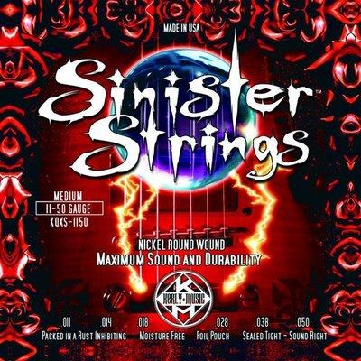 【硬地搖滾】全館$399免運!Kerly Strings 美製電吉他弦 Sinister系列 (11-50)
