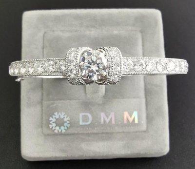 DMM 珠寶 流星鑽/莫桑石 Moissanite 鑽石 GIA CVD/HPHT 高碳鑽 摩星鑽 來圖客製化 量身訂製 18K金(單顆1.5拉/D級/手環)