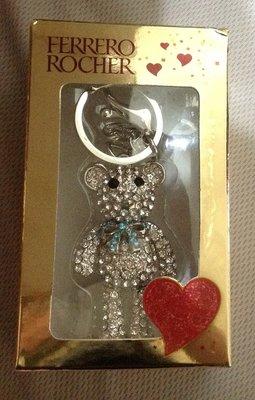 全新限量金莎小熊吊飾鑰匙圈水鑽