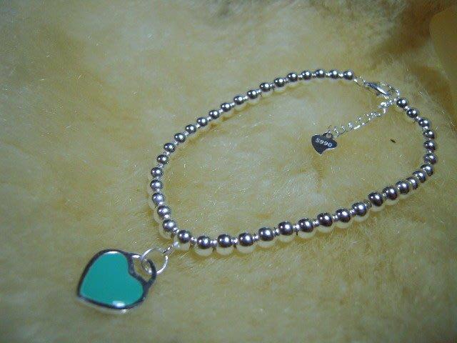 ※水晶玫瑰※ 990純銀圓珠造型手鏈(RD117)