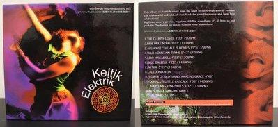 1998年出版 風潮唱片Keltik Elektrik世界音樂舞曲瘋 蘇格蘭新年狂歡舞曲原聲帶 中英文介紹回函卡