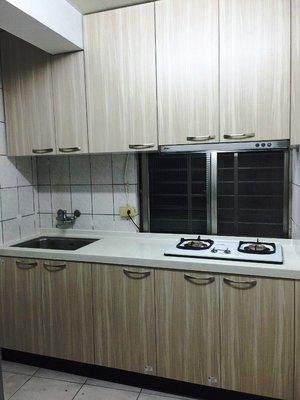 廚具流理檯-石英石檯面-美耐門板-長210CM-含二機