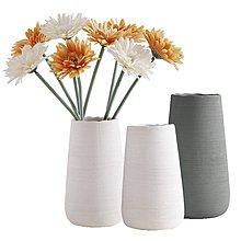 〖洋碼頭〗北歐陶瓷花瓶創意土陶拉絲白色店鋪幹花插花瓶器客廳瓷器擺件裝飾 ybj317