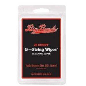 Big Bends Guitar String Wipes 吉他弦保溼防鏽清潔布【美國製/一包內有25條】