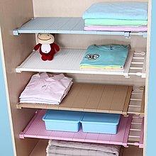 衣柜收納分層隔板柜子免釘置物架櫥柜浴室分隔層架宿舍伸縮整理架--欣雅居