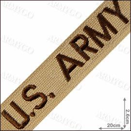 【ARMYGO】美軍軍種布條-US.ARMY(沙色)