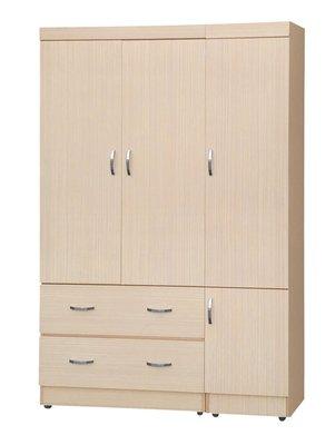 【南洋風休閒傢俱】精選時尚衣櫥 衣櫃 置物櫃 拉門櫃 造型櫃設計櫃- 白橡無敵4*6尺衣櫥 CY183-462