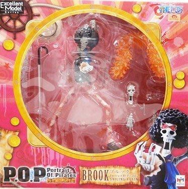 日本正版 POP 海賊王 航海王 Sailing again 布魯克 模型 公仔 日本代購