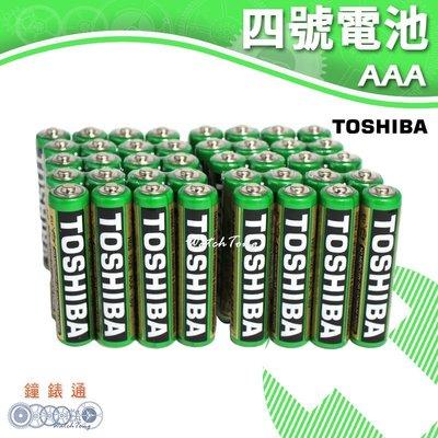【鐘錶通】TOSHIBA 東芝-4號電池 (40入) / 碳鋅電池 / 乾電池 / 環保電池