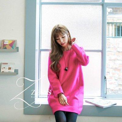 【ZEU'S】韓國秋季新款寬鬆毛尼洋裝...