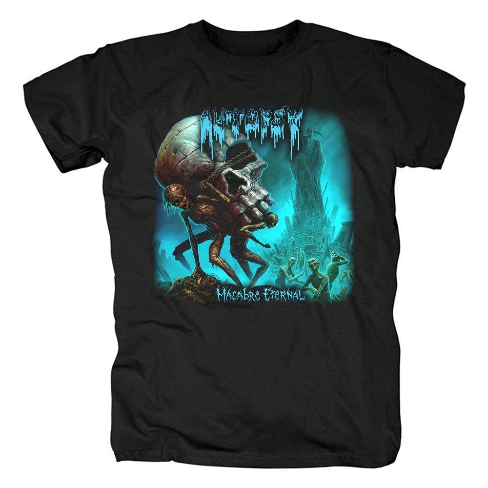 新品Autopsy樂隊殘酷死亡金屬Macabre Eternal音樂黑色短袖T恤