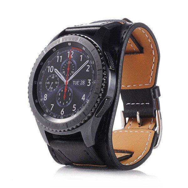 華為 Watch GT  錶帶 手鐲真皮錶帶 替換腕帶 頭層牛皮 商務型錶帶 運動手錶 時尚簡約 耐磨耐用