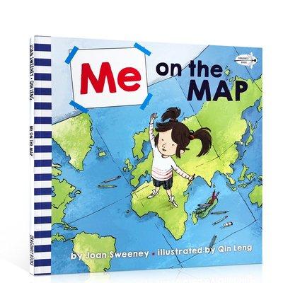 進口英文原版繪本 Me on the Map 從地圖上找到我 吳敏蘭繪本123 第115本 兒童科普認知地理位置圖畫書英