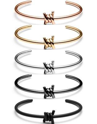 MVMT - SINGLE BARBED 繩結款 精美 時尚 質感 手環(女生 禮物 玫瑰金 金色 銀色 黑色)