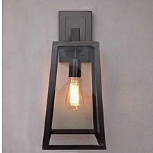 Loft北歐美式創意復古愛迪生玻璃箱壁燈工業過道鐵藝燈設計師的燈