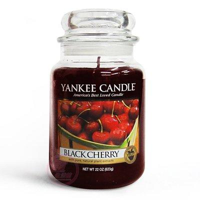 便宜生活館【家庭保健】Yankee Candle 香氛蠟燭 22oz /623g (黑櫻桃) 全新商品 (可超取)