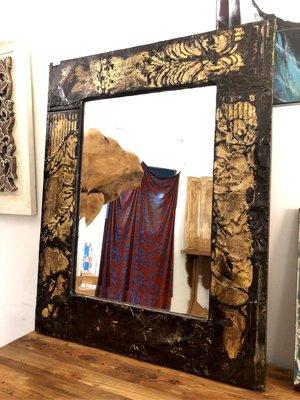Colonial Pressed Metal Mirror-鐵製掛鏡