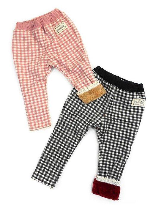 日本童裝  格子  小童 保暖 長褲 刷毛褲 日本空運#80#90~小太陽日本精品