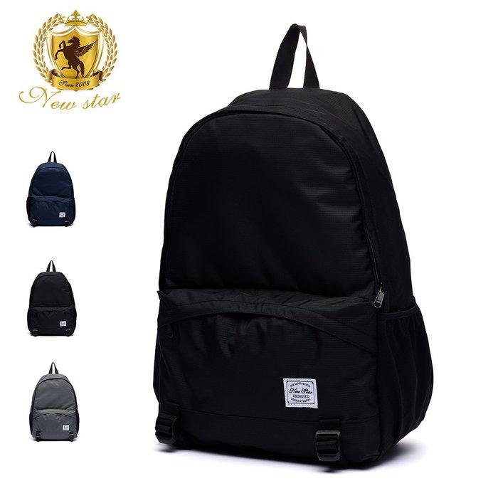 簡約超輕量格紋休閒防水口袋後背包包 NEW STAR BK286