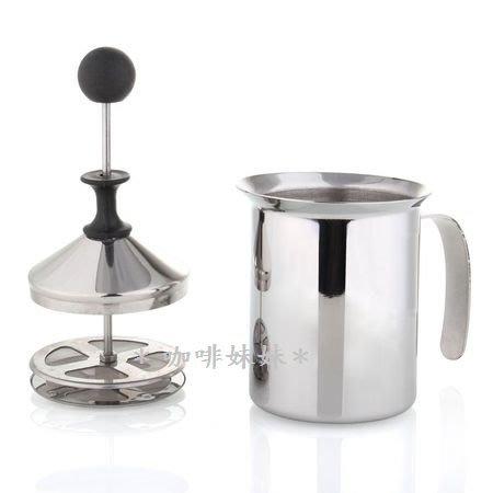 ✽咖啡妹妹✽ Welead 雙層 不鏽鋼 濾網 冰熱兩用 奶泡器 200cc