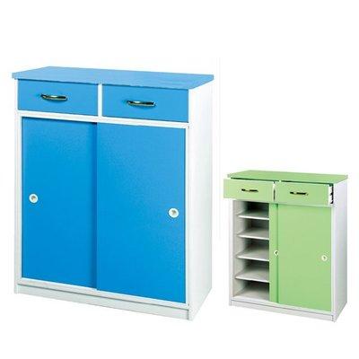 塑鋼藍色鞋櫃 塑鋼拉門鞋櫃 防水鞋櫃 環保鞋櫃 可訂做另報價 亞毅oa辦公家具oa屏風高隔間