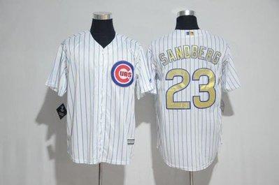 漫無止境wkky Cubs棒球服小熊隊球衣23號SANDBERG灰白色金字16總冠軍版開衫