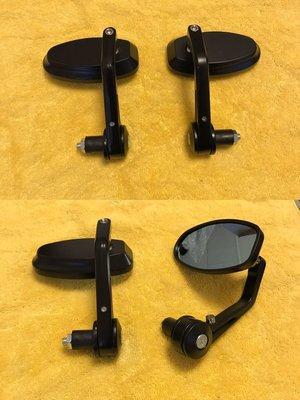 免運 Vespa偉士牌 gtv gts 春天 衝刺 et8 LX S  LT 防眩鏡片 方鏡 後照鏡 把手鏡  全黑色