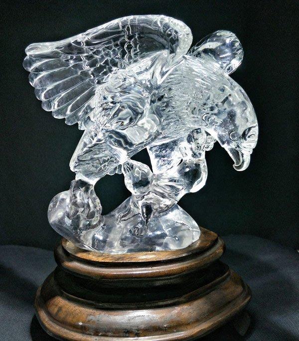 ☆采鑫天然寶石☆ **大展鴻圖** 頂級天然激光料白水晶雕件~極品珍藏