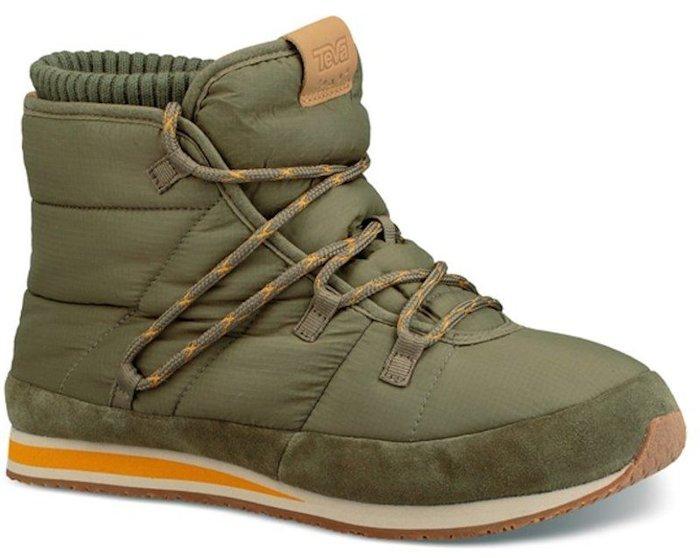 【艾咪】TEVA 男 Ember Lace 麵包中筒靴 雪靴 保暖靴 橄欖綠 只限一組